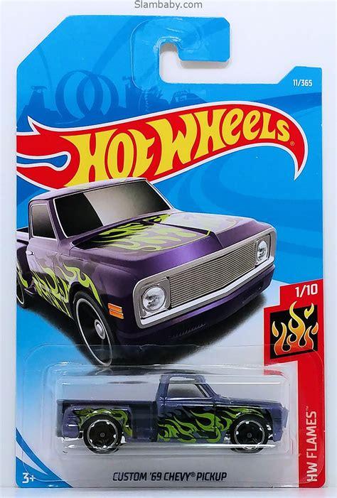 hot wheels custom  chevy pickup purple hw flames