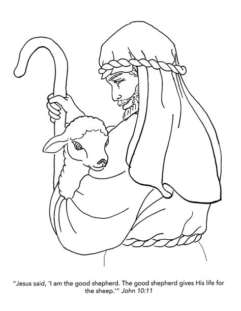coloring pages jesus the good shepherd open and print this christian coloring page coloring