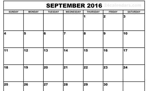 Calendar 2016 September September 2016 Our India