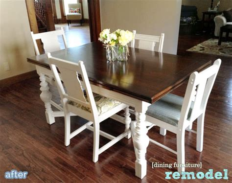 Diy Dining Room Table Makeover Dining Table Dining Table Makeover