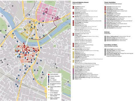 germany tourist attractions map dresden tourist attractions map