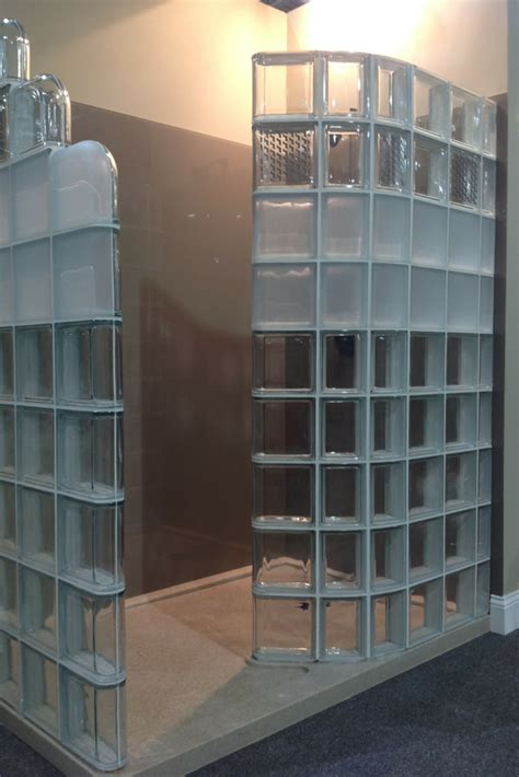 glass block bathroom designs modern glass block shower system introduced at columbus