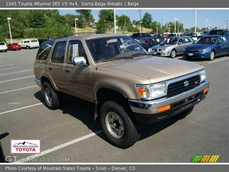 1995 Toyota 4runner Sr5 V6 Beige Metallic 1995 Toyota 4runner Sr5 V6 4x4