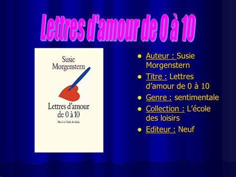 Présentation Lettre D Amour R 233 Sum 233 Club Lecture Ppt T 233 L 233 Charger