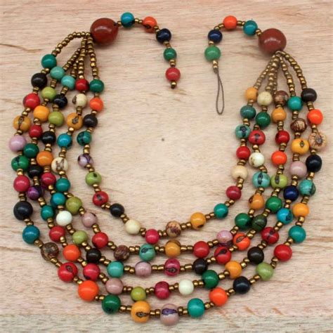 how to make a beaded necklace with a clasp every color beaded necklace with acai seed and matching
