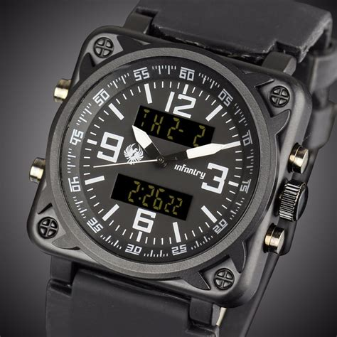 infantry mens watches led digital sport watches for
