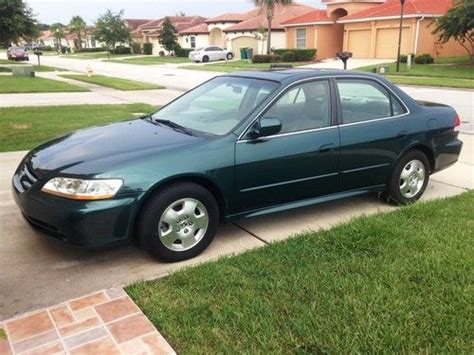 2002 green honda accord buy used 2002 honda accord ex sedan auto v6 fully loaded