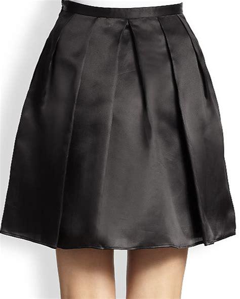 satin black black satin skirt redskirtz