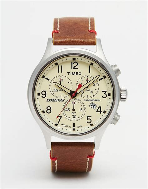 Timex Expedition Scout timex timex expedition scout chronograph in brown