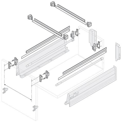 blum file drawer rails blum zrm 5500 us metafile standard kit white