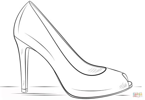 shoe coloring page high heel shoe coloring page free printable coloring pages