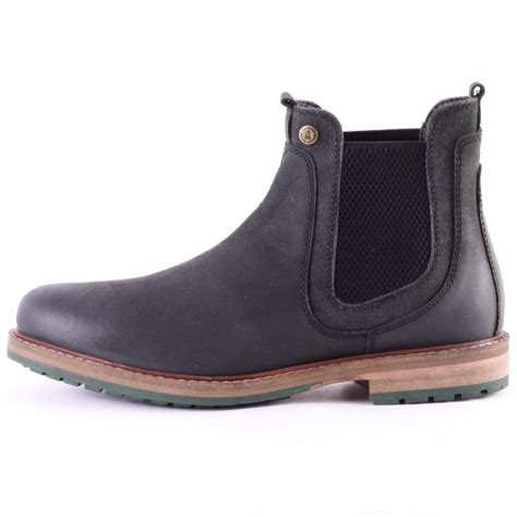 barbour mens boots barbour cullercoats mens chelsea boots in black