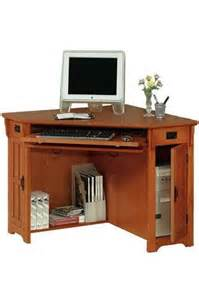 Small Computer Desk Corner Oak Corner Computer Desk On Sale Craftsman Corner Computer Desk W Compartment 30 Quot Hx50 Quot W Oak