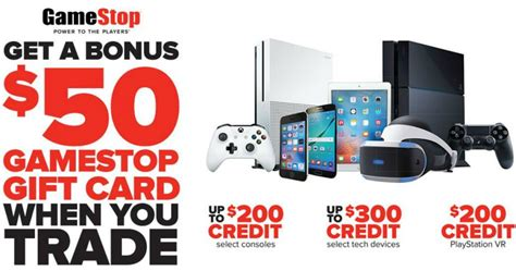 Gamestop Gift Card Trade In - gamestop 50 bonus gift card w eligible device trade in consoles tech devices more