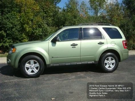 how does cars work 2010 ford escape user handbook buy used 2010 ford escape hybrid 1 owner suv cd ipod sync was 30 475 carfax certified in