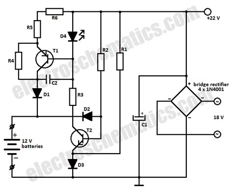 simple battery charger circuit diagram 12v battery charger circuit