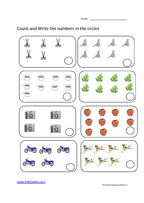 counting printable worksheets for preschool kidz worksheets preschool counting worksheet5