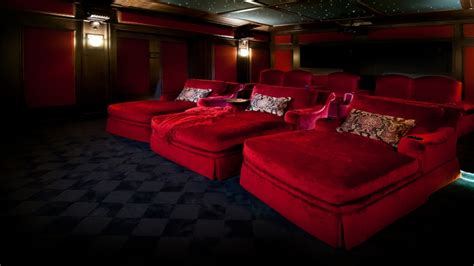 upholstered chaise lounge luxury home theater design home