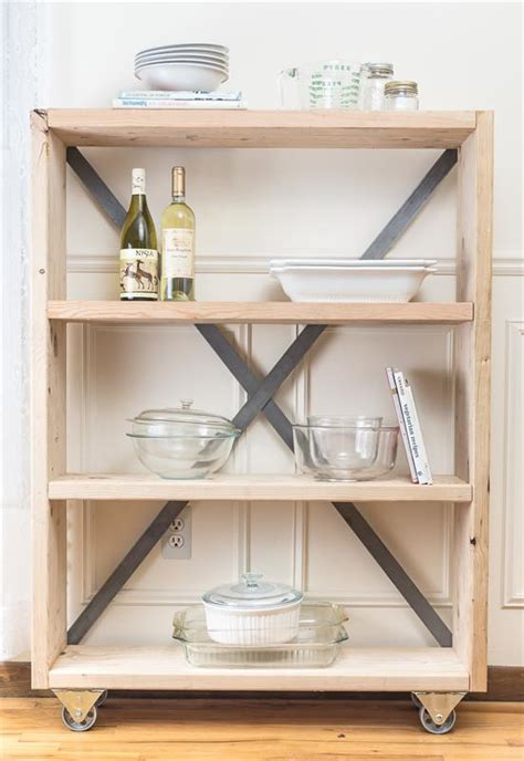 rustic industrial pantry bookshelf buildsomething