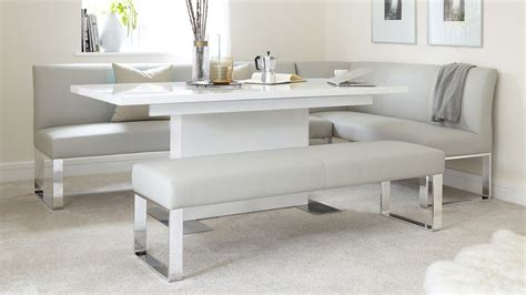 corner dining set with bench 7 seater left hand corner bench and extending dining table