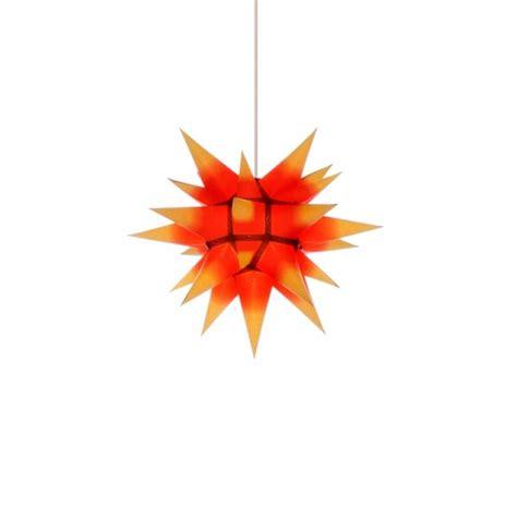 weihnachtsstern mit beleuchtung herrnhuter weihnachtsstern i4 gelb mit rotem kern mit