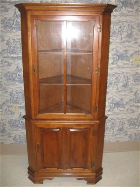 tell city china cabinet value tell city andover corner cabinet furniture