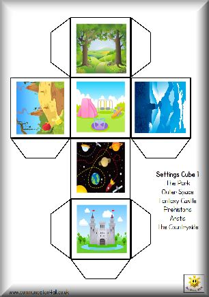 story cube template story writing