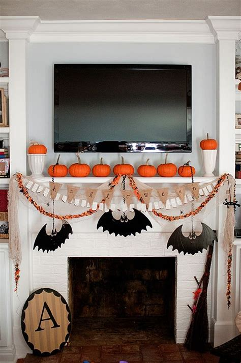 16 easy but awesome homemade halloween decorations with awesome halloween mantel decor ideas that will blow your mind