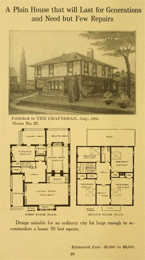 gustav stickley house plans 17 best images about bungalow vintage on pinterest arts crafts arts and crafts