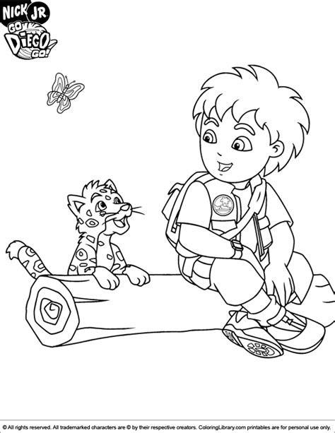 go diego go coloring picture
