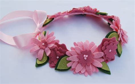Handmade Crown - handmade felt flower crowns from local etsy shop curious