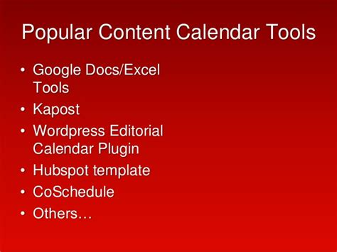 Creating A Content Calendar 2015 Patty Swisher Content Calendar Template Hubspot