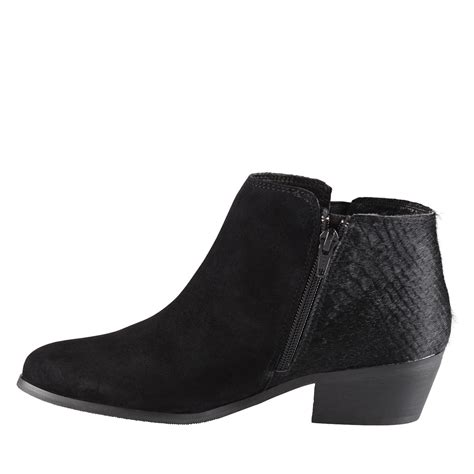 aldo flokarl ankle boots in black black suede lyst