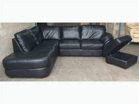 Dfs Luxury Black Thick Leather Corner Sofa We Deliver Uk Dfs Corner Leather Sofa