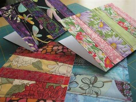 Patchwork Cards - patchwork fabric greeting cards quilting in the