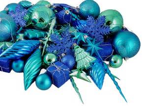 125 pc shatterproof peacock blue christmas ornaments