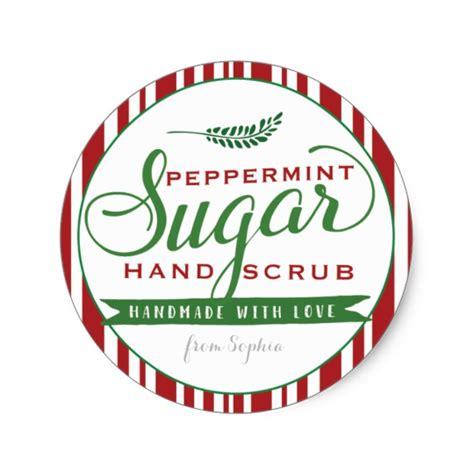 printable label for peppermint sugar scrub peppermint sugar scrub labels custom mason jar zazzle