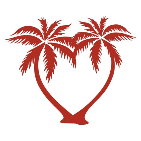 palm tree svg heart palm tree cuttable design