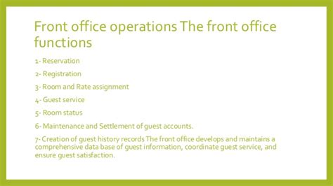 Qualities Of A Front Desk Officer Front Office Department Design By