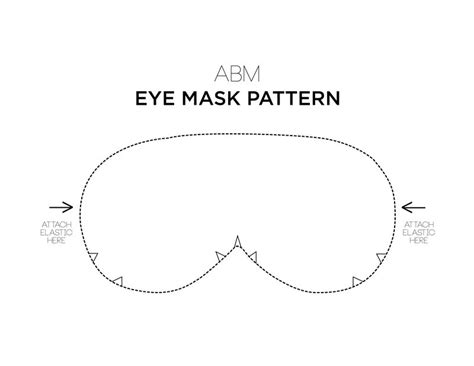sleep mask template make your own eye mask a beautiful mess