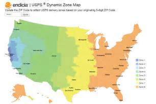 Usps Zip Code Map by Zip Code Shipping Zone Map Submited Images