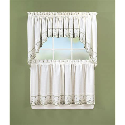 walmart kitchen curtains valances abby kitchen swag tier or valance walmart