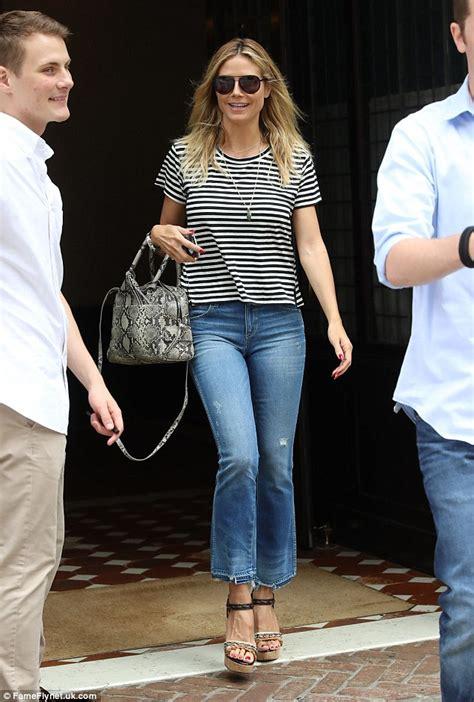 Heidi Klum Is A Handsome Fellow by Heidi Klum Exits New York Hotel Without Beau Schnabel