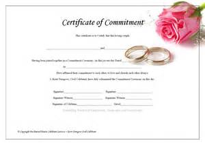 pin commitment ceremony certificate on pinterest