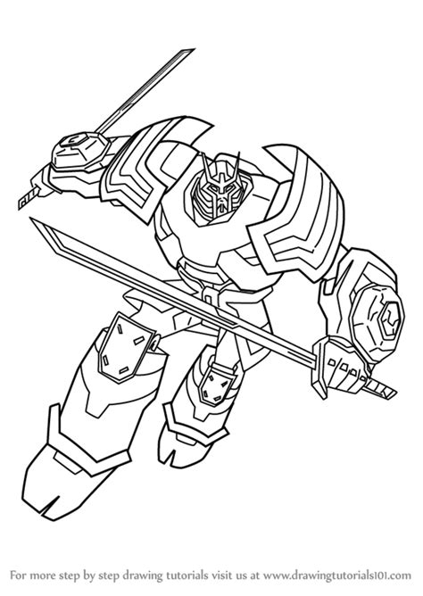 easy transformer coloring page learn how to draw drift from transformers transformers