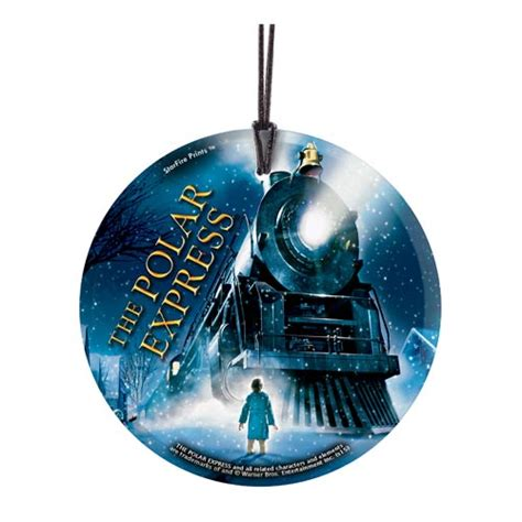the polar express train starfire prints hanging glass
