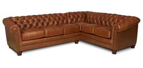 chesterfield leather sectional