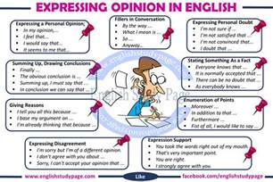 Expressing Opinion Essay expressing opinions in study page