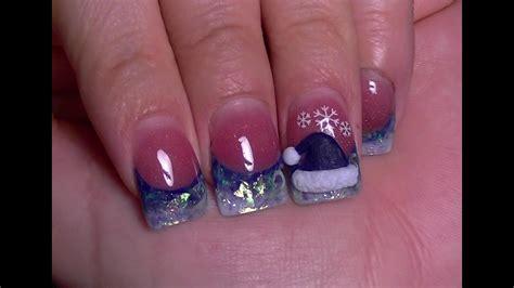 imagenes de uñas acrilicas para fiestas mis unas para la navidad 2012 unas acrilicas youtube