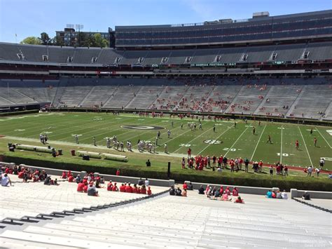 sanford stadium student section what seats are for visiting students at sanford stadium